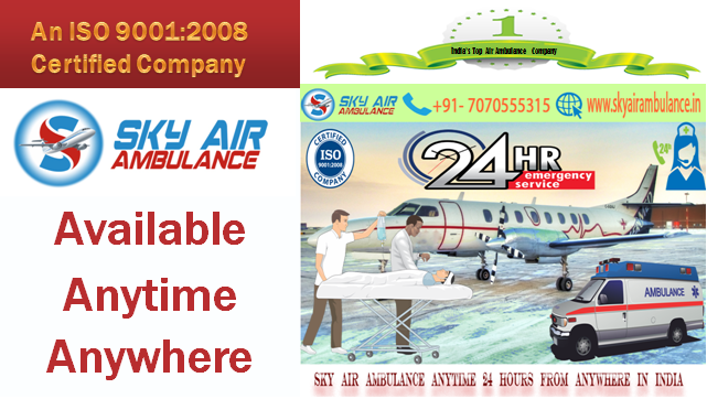 Get India_s Best Air Ambulance from Guwahati to Delhi, Mumbai by Sky Air Ambulance