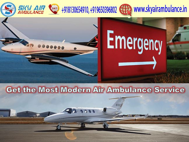sky air ambulance service in delhi