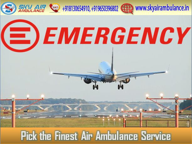 Sky Air Ambulance Service in India